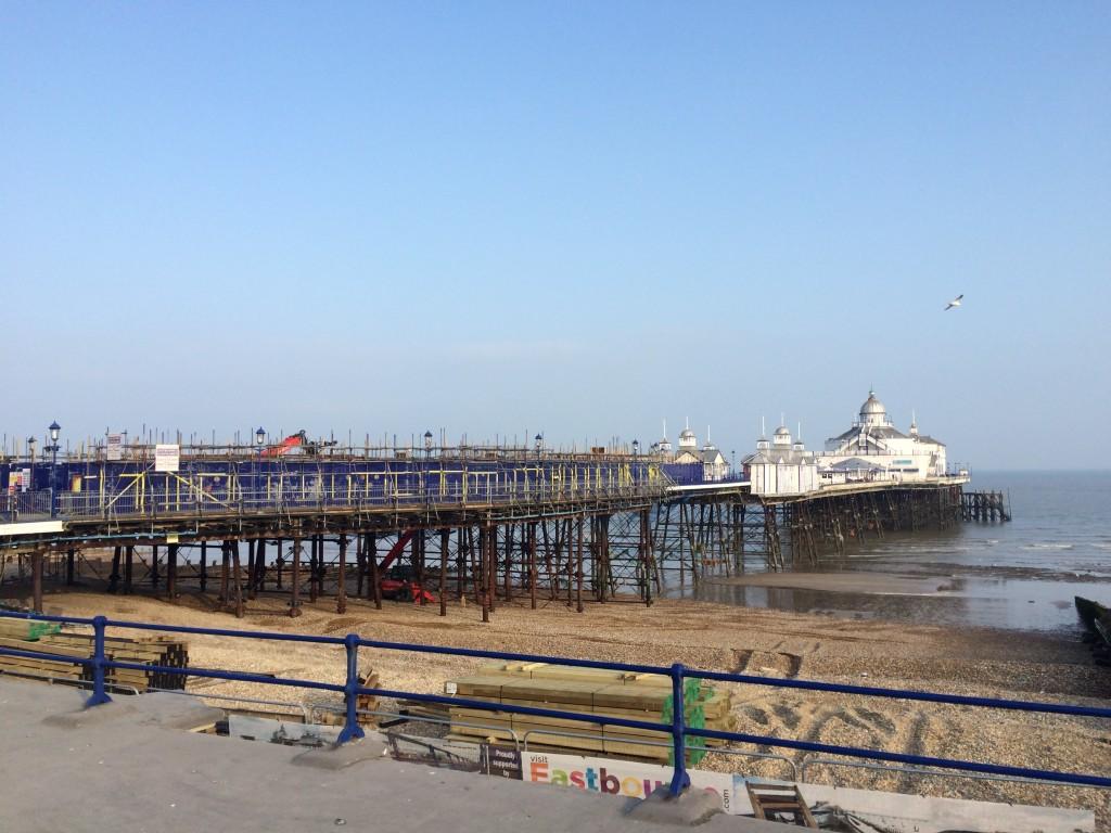 Eastbourne Pier, under repair